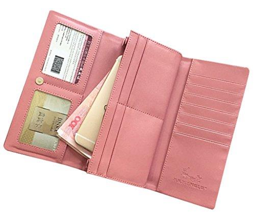 Sezione lunga delle signore con il raccoglitore tre sacchetto della borsa del telefono della mano