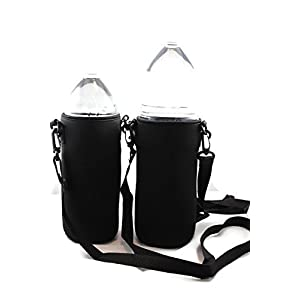 Neoprene Water Bottle Holder and Sleeve for 1-1.5 L Water Bottles With Adjustable Shoulder Strap by Made Easy Kit