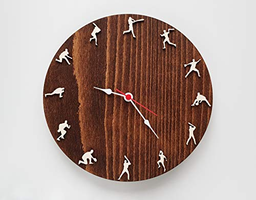 - Baseball wood wall clock 10