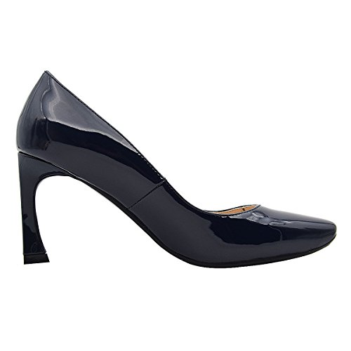 Leather Women's Patent Shoes B Square Special Mid Heel Verocara Solid Pumps Block Toe navy HFqRxC