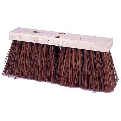 Weiler Street Broom – 16'' x 3 1/2'', Bass & Palmyra Blend (2 Pack)