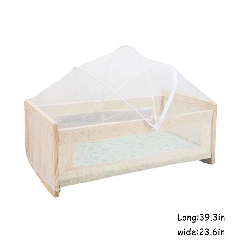 KateDy Foldable Baby Mosquito Net,Kids Infant Nursery Bed Crib Canopy Safty Arch Netting Play Tent House,Suitable for Children's Bed of Inner Diameter of 39''x24''(No Bed/Mats/Bed Linings/Other Things) by Katedy