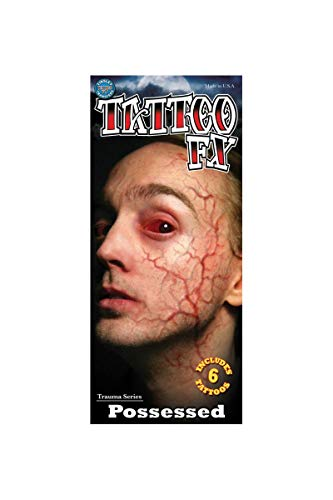 Tinsley Transfers Possessed Trauma Tattoo Makeup Adult Accessory -