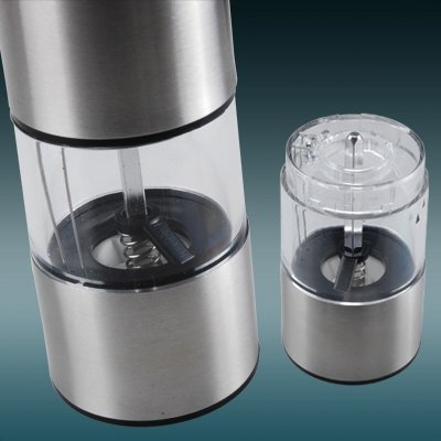 Stainless Steel 5 INCH Silver SurePromise Salt Round Grinder