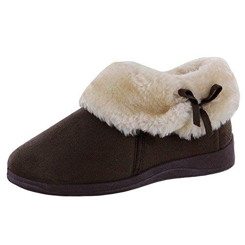 Finta Pantofola Pelliccia A Donna Brown Colletto Alla Dunlop Bessie Con Stivale Caviglia 8gwFwtax