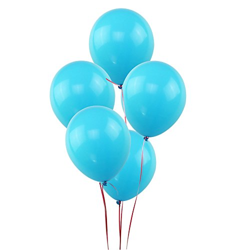 100 light blue balloons - 8