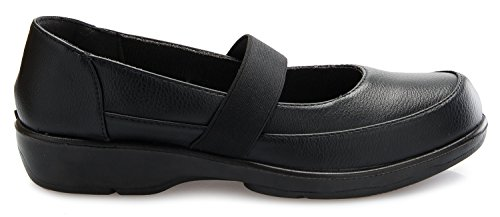 Image of OLIVIA K Women's Easy Slip On Work Office Uniform Resistant Flatform Daily Life Shoes
