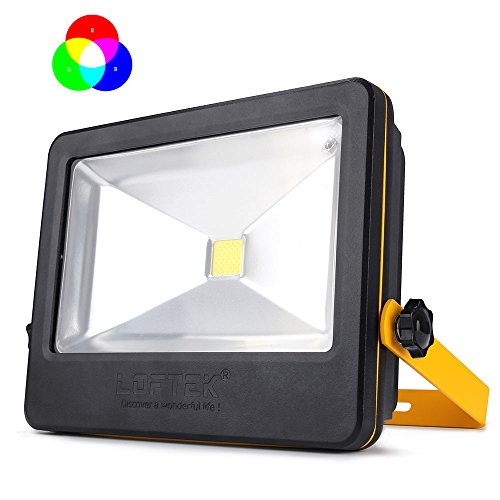 Appliance 50 User - LOFTEK NOVA PLUS 50W Timing RGB Flood Light,6 Levels of Adjustable Brightness Floodlight,16-color RGB Lighting Outdoor Waterproof IP66 Spotlight with Auto Shut-off Feature,Black