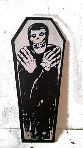 19 inch Crimson Ghost Coffin wood painting by Aaron Matthies