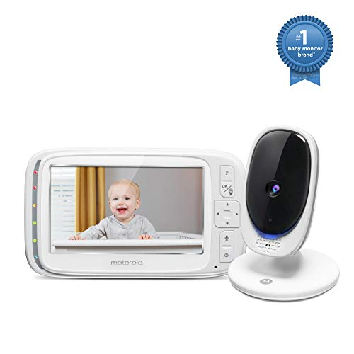 Motorola Comfort 50 Video Baby Monitor with 5' Color Display, Digital Zoom, Two-Way Audio, Infrared Night Vision and 5 Soothing Lullabies
