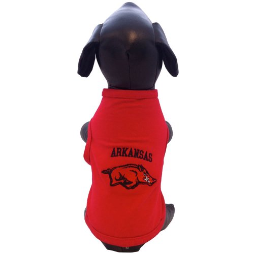 NCAA Arkansas Razorbacks Cotton Lycra Dog Tank Top, X-Small