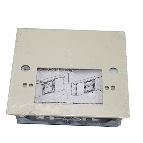 Wiremold Legrand V4047C-1 One Gang Single Gang Device Plate Fitting Snap On Cable Raceway, Ivory