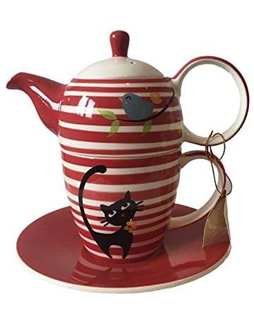 Affek Design TEEKANNE Porzellan mit Tasse Deckel Untertasse KAFFEEKANNE 0,48 L