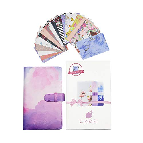 Instant Camera Photo Album Bundle with 96 2x3 Photo Pockets & 20 Different Designed Border Stickers - Compatible with Polaroid Mint Snap Touch Z2330 PIC-300P Canon Ivy CLIQ Instax Fujifilm (Pink) from SophiaSophia