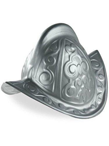 Jacobson Hat Company Men's Plastic Conquistador Helmet, Silver, Adult