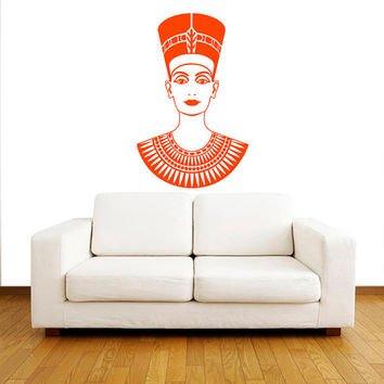 Wall Sticker Room Decal Egypt Empress Nefertiti Cleopatra Woman Queen bo2550