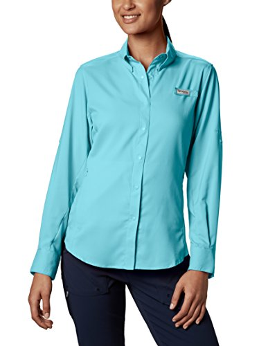 Columbia Women's PFG Tamiami II Long Sleeve Shirt , Clear Blue, Large ()