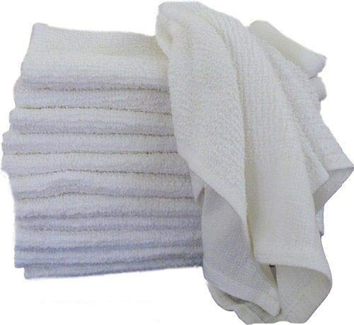 100 Towels Terry Polishing Cloth Cleaning Shop Bar Rags Soft Cotton 12x12 75# Business & Industrial Cleaning Supplies