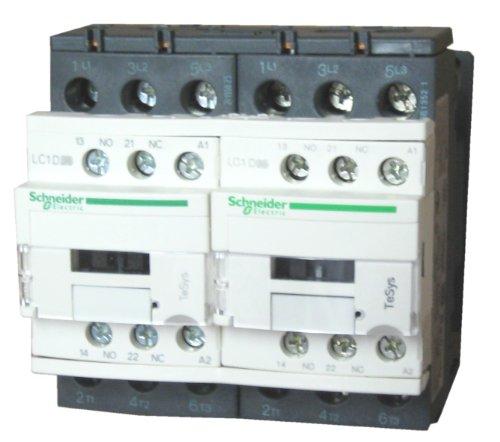 SCHNEIDER ELECTRIC Reversing Contactor 575-Vac 32-Amp Iec LC2D32U7 Ip54 Ac Drive Three Phase 400-480 Vac 5Hp (480v 3 Phase Power Switch)
