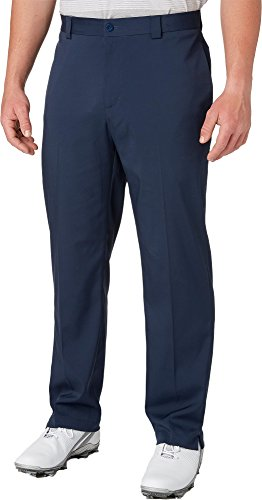 Slazenger Men's Tech Flat Front Golf Pants, (Navy, 38 x 32) by Slazenger
