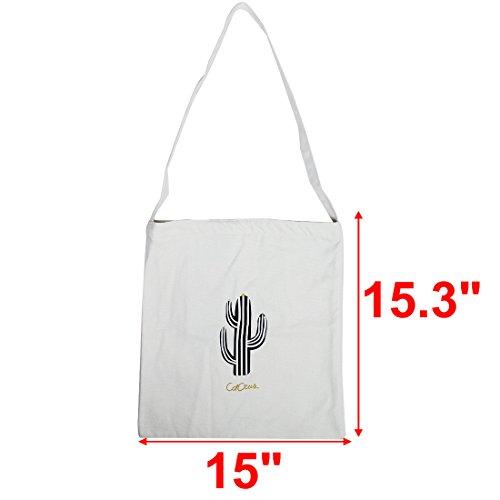 De Ambiental Cremallera Compras Dama Una Bolsillo Correa Bolsa Bandolera Mujeres Para sourcing Casual map Cactus ESqww7