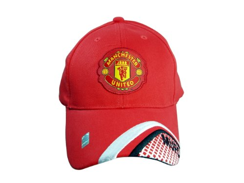 FC MANCHESTER UNITED OFFICIAL TEAM LOGO CAP / HAT - MU023 by RHINOXGROUP