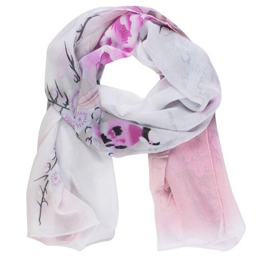 niceeshop(TM) Women Picapica Peony Flower Print Soft Chiffon Shawl Scarf