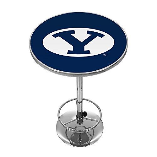 NCAA BYU Chrome Pub Table by Trademark Gameroom