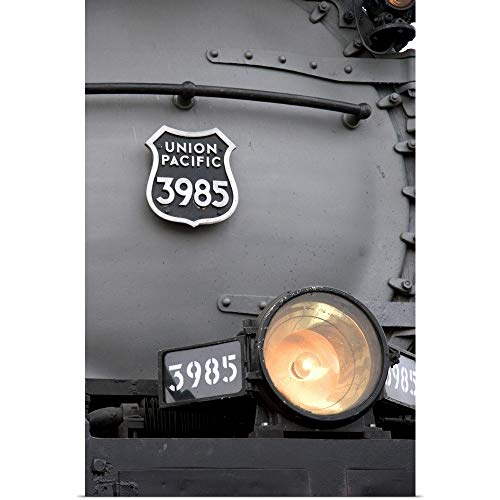 (GREATBIGCANVAS Poster Print Entitled Close View of Historic Challenger Locomotive steam Engine by David R. Frazier 12