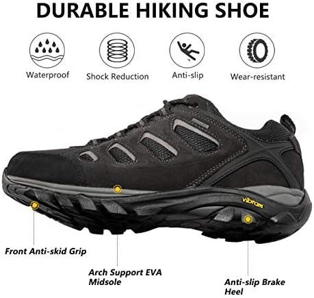 Wantdo Men's Waterproof Hiking Shoes Suede Leather Shoe