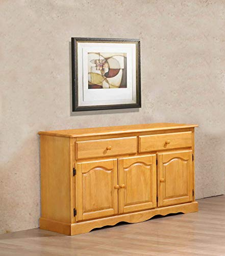 - Sunset Trading DLU-22-BUF-LO Treasure Buffet, Light Oak Finish