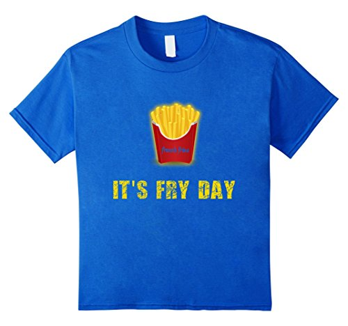 Kids French Fries last minute costume t-shirt for kids 4 Royal Blue (French Fries Child Costume)