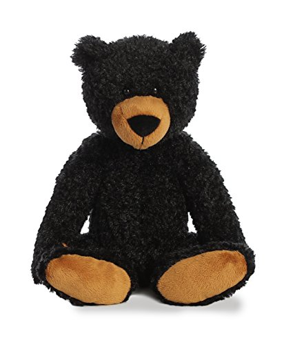 (Aurora World Plush Slouchee Bear Plush Toy, Black)