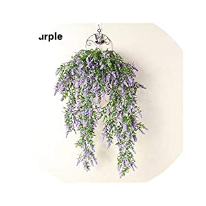 80cm Artificial Vine Fake Plant Hanging Lavender Vine Flower Rattan Garden Home Decor Purple/Pink/Rose Red/White/Yellow,Purple 85