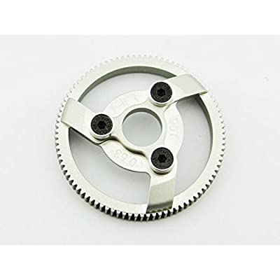 Hot Racing TE890H Hard Anodized Aluminum Spur Gear (90t 48p) - Traxxas: Toys & Games
