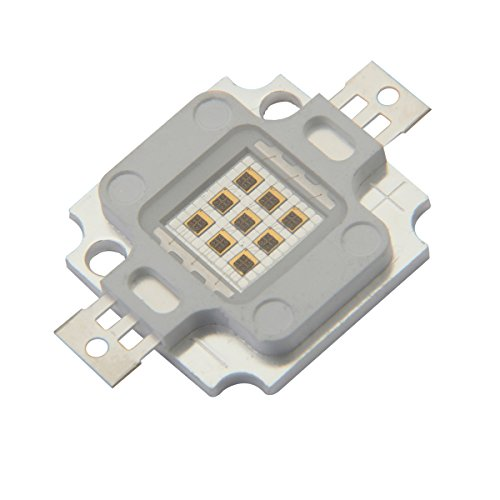 Chanzon High Power Led Chip 10W Infrared (IR 940nm/Input 900mA/DC 4V-5V/10 Watt) SMD COB Light Emitter Diode Components 10 W Night Vision Bulb Lamp Beads for DIY Lighting/CCTV Cameras