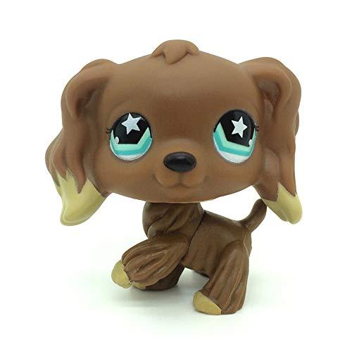 jjlin New #960 Littlest Pet Shop Rare Chocolate Brown Cocker Spaniel Dog Star Eyes LPS ()
