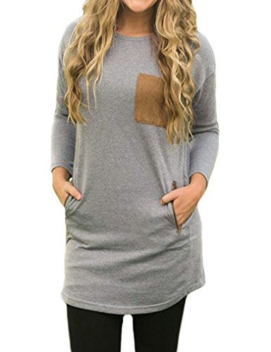 Womens Sleeve Crewneck Casual T shirt product image