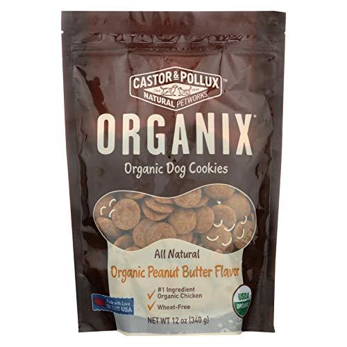 Organix Peanut Butter Dog Cookies 12 Ounces (Case of 8)