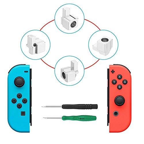 Switch Latch (Latch Replacement For Nintendo Switch NS Joy Con with Screwdrivers, iKNOWTECH Metal Lock Buckles Repair Tools Kit for Nintendo Switch NS Joy Con with Screwdrivers)