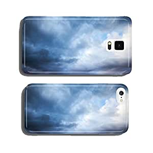 Dark blue stormy cloudy sky. Natural photo background cell phone cover case iPhone6 Plus