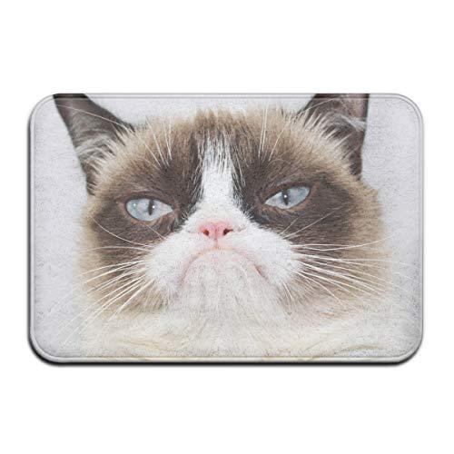 Wyuhbgf65 Grumpy Cat - Alfombrilla Antideslizante para Exteriores, Interiores, baños, cocinas y dormitorios