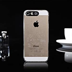 Fashionable People Pattern Caller Luminous Transparent Hard Case for iPhone 5/5S Phone cases