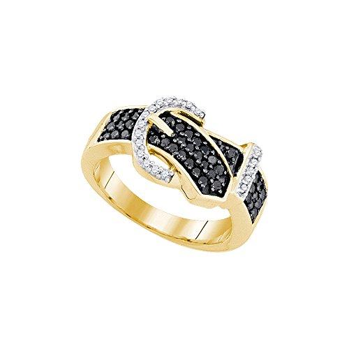 Black Diamond Buckle Ring - 7