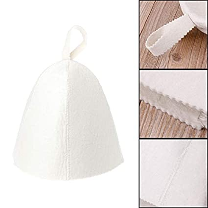 dadd6cc947 Shower Caps - Russian Style White Wool Sauna Hat Anti Heat Cap Head  Protector Session - Bathing Russian Black Wool Felt Finnish Hats Women  Water Sauna ...