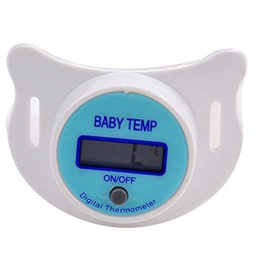 yuye-xthriv Baby InfantLCD Digital Pacifier Safety Health Nipple Temperature Thermometer Blue Display Centigrade