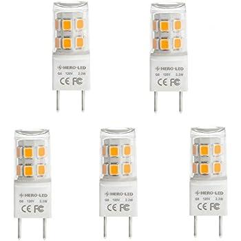 Kakanuo G8 Led Bulb Dimmable 2 Watt Replace 20w G8 Halogen
