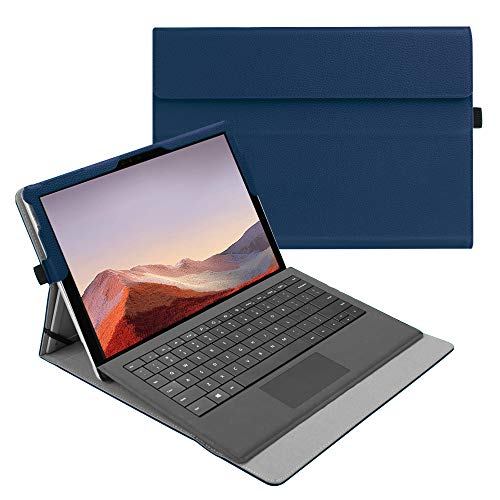 Fintie Case for New Microsoft Surface Pro 7 / Pro 6 / Pro 5 / Pro 4 / Pro 3 12.3 Inch Tablet - Multiple Angle Viewing Portfolio Business Cover, Compatible with Type Cover Keyboard (Navy)
