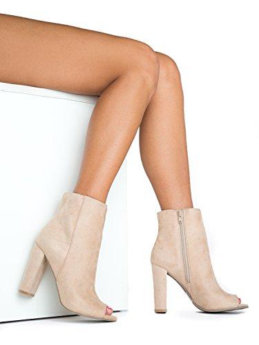 J Shoe Vetoketju Toe Adams Zip High Essential Ankle Up Natural Bootie Mokka Savoy Kenkä Nilkka Korkokenkiä Olennaista Suede Heel Luonnollisten Classic Boot By Chunky Peep Sleek Virtaviivainen Ylös Paksu r6rCwEq