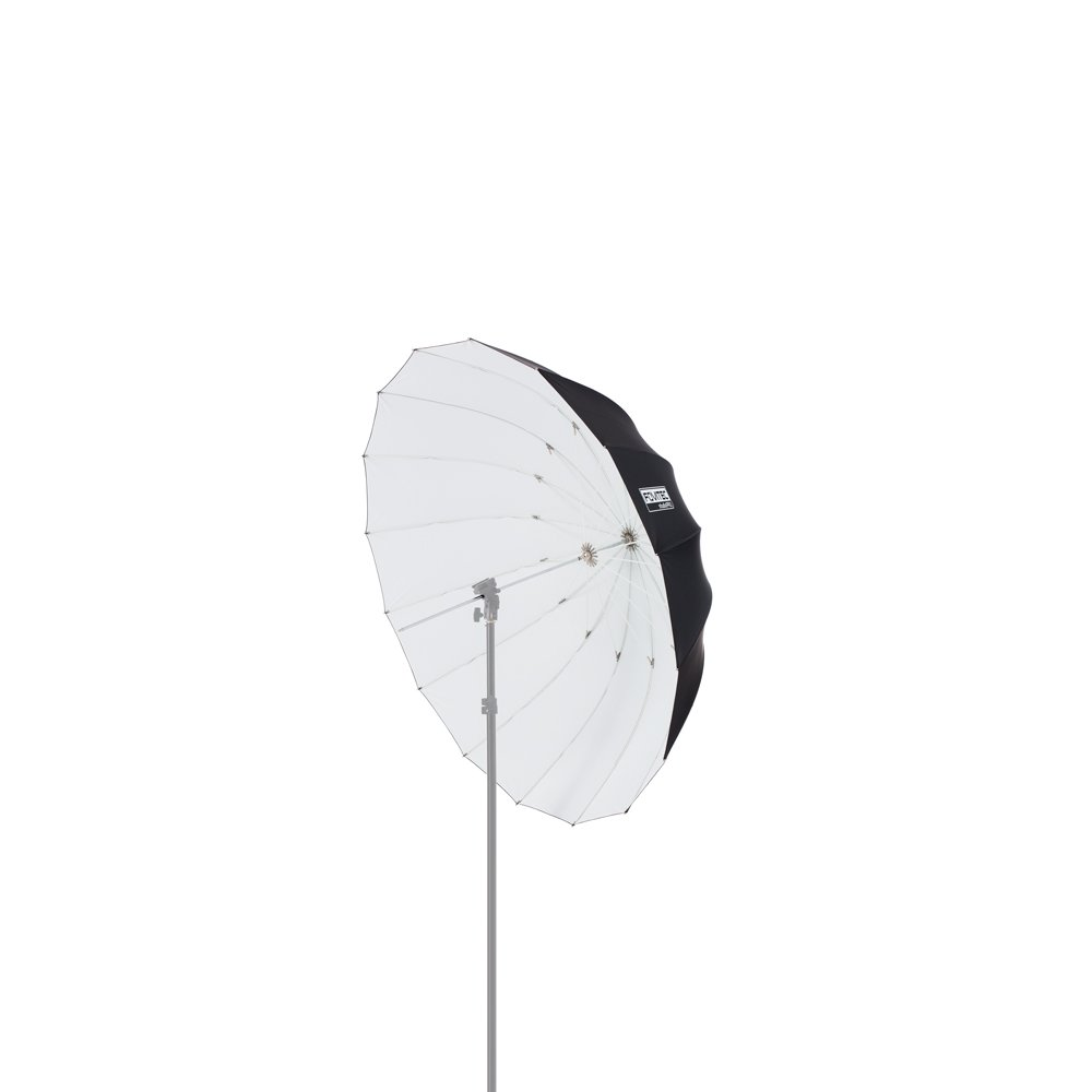 Fovitec - 1x 41 inch White Photography & Video Parabolic Umbrella - [Reinforced Fiberglass][Collapsible][EZ Set-Up][Lightweight][Durable Nylon] by Fovitec